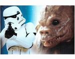 Laurie Goode STAR WARS - SAURIN Genuine Signed Autograph 10x8 COA 11335